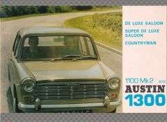 AUSTIN 1300 & 1100 MK2 RANGE BROCHURE 1967 | Memorabilia