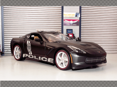 CHEVROLET CORVETTE STINGRAY 2014 POLICE | 1:18 Diecast Model Car