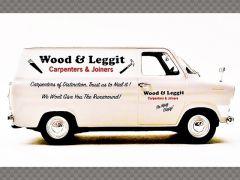 FORD TRANSIT MK1 ~ 'WOOD & LEGGIT' CHIPPY | 1:43 Diecast Model Car