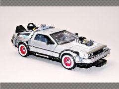 DELOREAN TIME MACHINE ~ BACK TO THE FUTURE 3 | 1:24 Diecast Model Car
