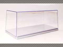 1:24 SCALE MODEL CAR DISPLAY CASE ~ SILVER ~ PROTECT YOUR INVESTMENT! | Display Cases
