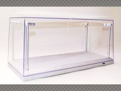 1:18 SCALE MODEL CAR DISPLAY CASE ~ SILVER ~ PROTECT YOUR INVESTMENT! | Display Cases