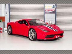 FERRARI 458 SPECIALE - WHITE STRIPE | 1:18 Diecast Model Car