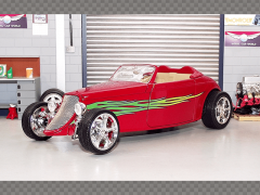 FORD CONVERTIBLE SPEEDSTER HOT ROD 1933 ~ RED | 1:18 Diecast Model Car