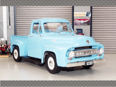 FORD F100 PICKUP 1953 ~ LIGHT BLUE | 1:18 Diecast Model Car