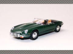 JAGUAR E TYPE CABRIO ~ GREEN ~ 1971   1:43 Diecast Model Car