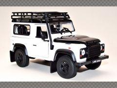 LAND ROVER DEFENDER 90 ~ WHITE   1:24 Diecast Model Car