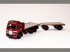 LEYLAND HIPPO FLATBED & TRAILER   1:76 Diecast Model Truck