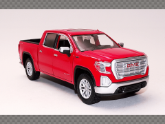 GMC SIERRA 1500 SLT CREW CAB -2019 ~ RED | 1:24 Diecast Model Car