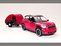MINI COOPER S COUNTRYMAN / TRAILER   1:24 Diecast Model Car