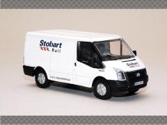 FORD TRANSIT SWB LOW ROOF - STOBART RAIL   1:76 Diecast Model Car