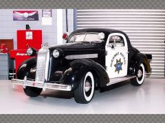 PONTIAC DELUXE POLICE CAR ~ 1936 | 1:18 Diecast Model Car