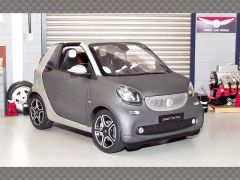SMART FORTWO CABRIO 2014 ~GREY | 1:18 Diecast Model Car