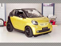 SMART FORTWO CABRIO 2014 ~YELLOW | 1:18 Diecast Model Car