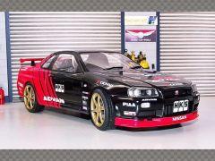 NISSAN SKYLINE GT-R (R34) ADVAN DRIFT | 1:18 Diecast Model Car