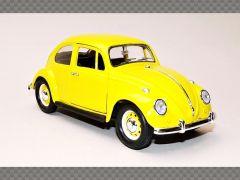 VOLKSWAGEN BEETLE 1967 ~ YELLOW | 1:24 Diecast Model Car