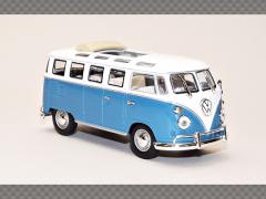 VOLKSWAGEN MICROBUS 1962 ~ BLUE   1:43 Diecast Model Car