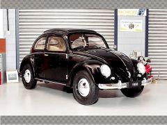 VOLKSWAGEN CLASSIC BEETLE 1950 ~ BLACK | 1:18 Diecast Model Car