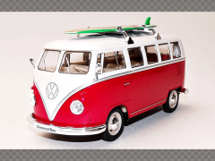VOLKSWAGEN T1 BUS WITH SURFBOARD ~ 1962 | 1:24 Diecast Model Car