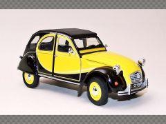 CITROEN 2CV CHARLESTON ~ 1982 ~ YELLOW | 1:24 Diecast Model Car