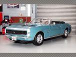 CHEVROLET CAMARO SS 396 CONVERTIBLE 1967 ~ BLUE | 1:18 Diecast Model Car