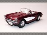 CHEVROLET CORVETTE 1957 | 1:24 Diecast Model Car