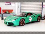 FERRARI 488 GTB ~ GREEN | 1:18 Diecast Model Car