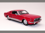 FORD MUSTANG GT ~ 1967 ~ RED | 1:24 Diecast Model Car