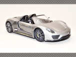 PORSCHE 918 SPYDER ~ Grey | 1:24 Diecast Model Car