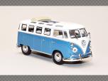 VOLKSWAGEN MICROBUS 1962 ~ BLUE | 1:43 Diecast Model Car