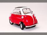 BMW ISETTA 250 ~ RED | 1:18 Diecast Model Car